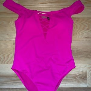 Pac Sun LA Hearts Hot Pink One Piece Bathing Suit